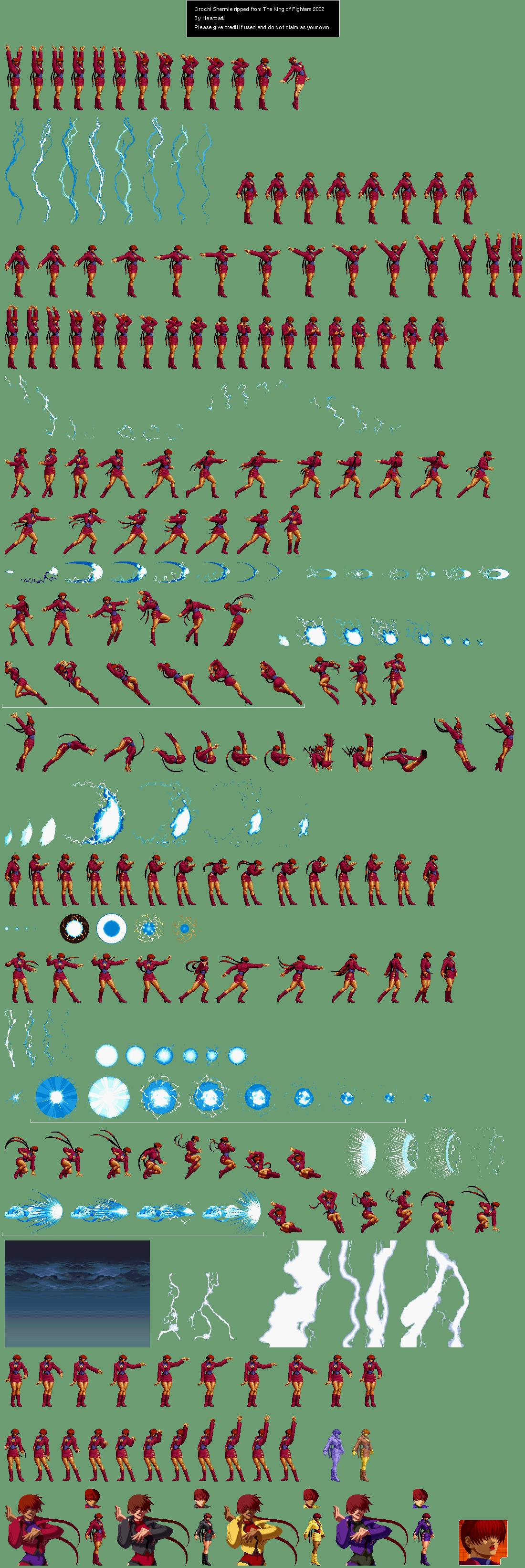 Orochi Shermie - Sprite Database