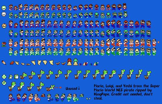 Mario & Luigi - Sprite Database