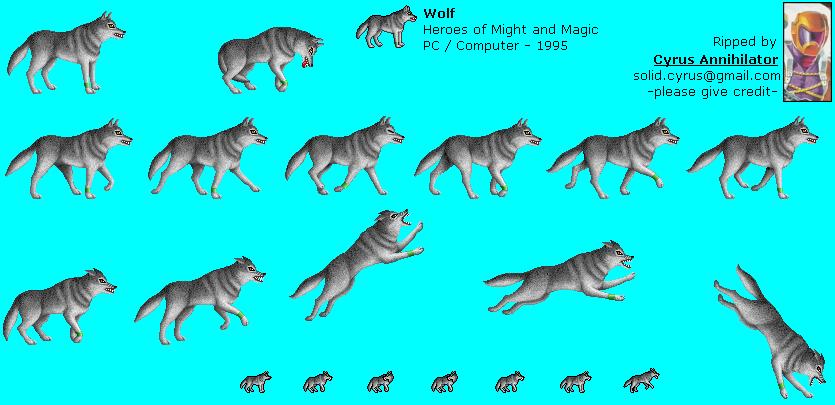 Wolf Sprite Database