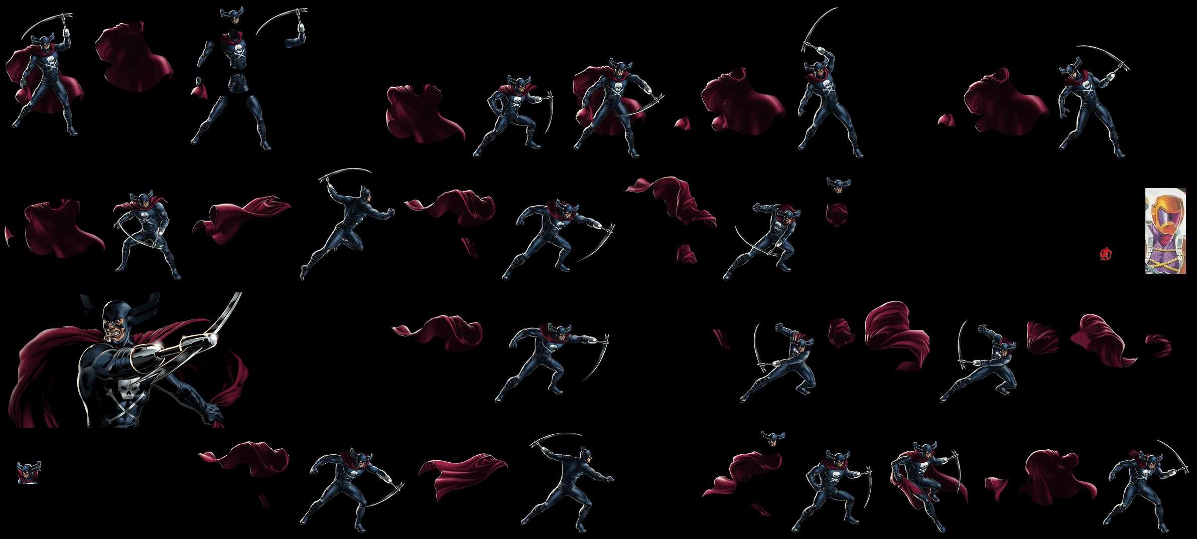 Sprite Database : Grim Reaper X 23 Marvel Avengers Alliance