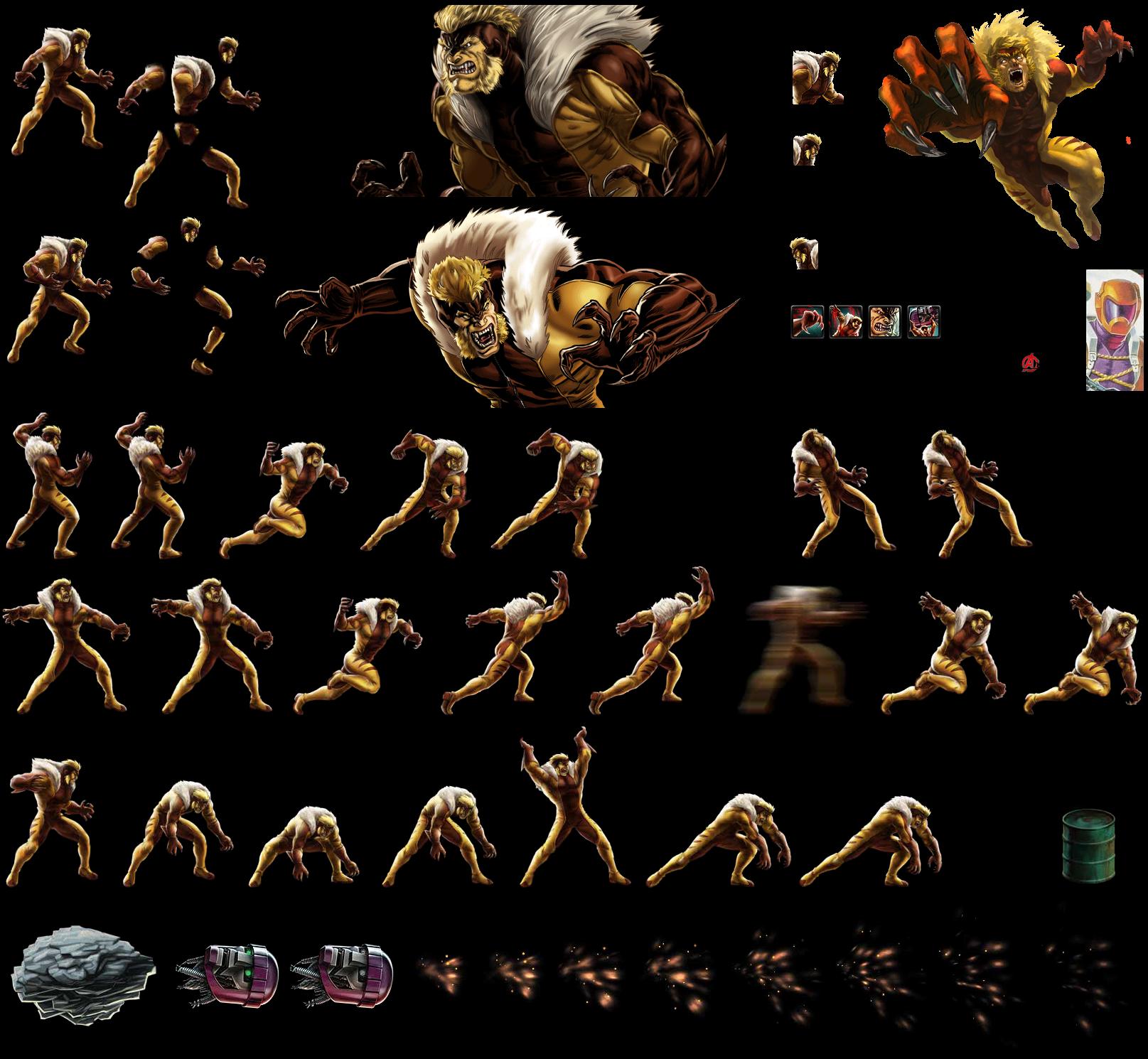 Sabretooth (classic) - Sprite Database X 23 Marvel Avengers Alliance